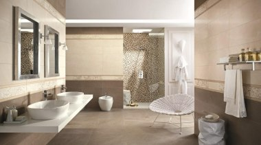 Visone bathroom floor and wall tiles - Natural bathroom, floor, flooring, home, interior design, room, tile, wall, gray