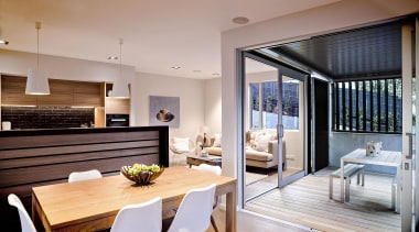 """""""Here, the design intention was to achieve a interior design, real estate, gray"""
