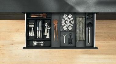 The new Legrabox drawer system from Blum boasts furniture, product, orange, black