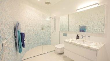 Winner Bathroom of the Year 2013  Victoria bathroom, daylighting, floor, home, interior design, property, real estate, room, sink, tile, wall, white