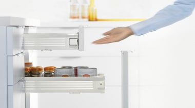 METABOX drawers and pull-outs have just a few furniture, home appliance, kitchen appliance, major appliance, product, product design, refrigerator, white