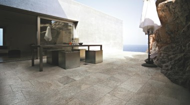 Quarzite barge outdoors floor tile - Stone D floor, flooring, tile, wood flooring, gray, black