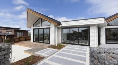 Landmark Homes Design & Build - Landmark Homes estate, facade, home, house, property, real estate, residential area, siding, window, gray