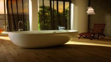 essencial oval thermasens.jpg - essencial_oval_thermasens.jpg - bathroom   bathroom, bathtub, floor, flooring, hardwood, interior design, plumbing fixture, room, tile, wood flooring, brown