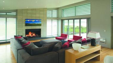 Habitat Open Fireplace - Habitat Open Fireplace - interior design, living room, real estate, room, window, green