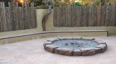 Dcocrete 52 - Dcocrete_52 - backyard   fence backyard, fence, landscape, landscaping, outdoor structure, wall, water feature, yard, gray