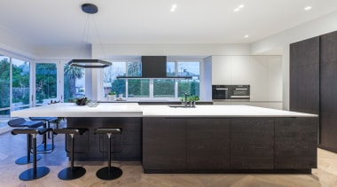 Cronin Kitchens – TIDA New Zealand Designer countertop, interior design, kitchen, real estate, room, black, white