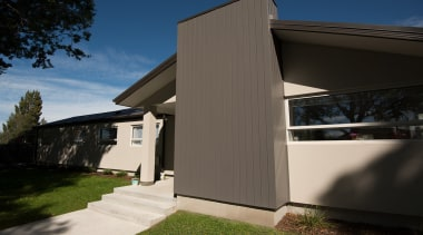 External house cladding is just one way of architecture, building, cottage, facade, home, house, property, real estate, residential area, siding, sky, window, black