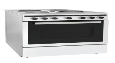 Freestanding cooker60 cm freestanding,White painted color, 4 Electric gas stove, home appliance, kitchen appliance, kitchen stove, major appliance, product, white