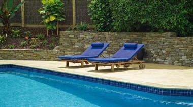 pol0005web.jpg - pol0005web.jpg - backyard | furniture | backyard, furniture, leisure, outdoor furniture, outdoor structure, property, sunlounger, swimming pool, brown