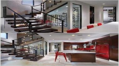Modern Wine Cellar Ideas - Modern Wine Cellar ceiling, glass, handrail, interior design, lobby, property, stairs, gray