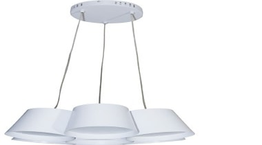 FeaturesThe clean and simple design creates a very ceiling fixture, light fixture, lighting, product, product design, white