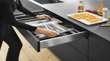 AMBIA-LINE kitchen accessories – organization at its best. cuisine, furniture, kitchen, kitchen appliance, product design, table, black