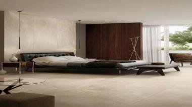 Trilogy Moon Beige bed, bed frame, bed sheet, bedroom, ceiling, floor, flooring, furniture, hardwood, interior design, laminate flooring, living room, mattress, room, wall, wood, wood flooring, gray, brown