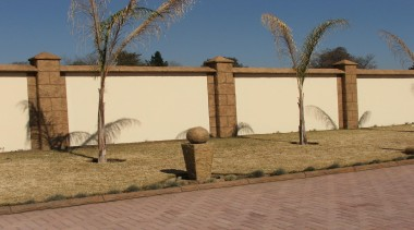 Decocrete 11 - Decocrete_11 - fence   home fence, home fencing, land lot, landscape, outdoor structure, property, real estate, wall, brown