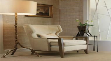 The work of William Sofield is defined not chair, floor, flooring, furniture, interior design, living room, product design, table, wall, wood, brown