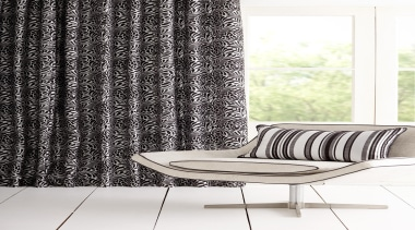 Hydrangea - black and white | chair | black and white, chair, curtain, furniture, interior design, product design, textile, window, window treatment, white, black
