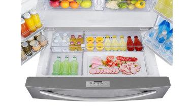 Refrigerator – French door – SRF679SWLSThe new Samsung home appliance, kitchen appliance, major appliance, product, product design, refrigerator, small appliance, white