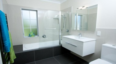 A standard NZ bathroom, with not much room, bathroom, bathroom accessory, bathroom cabinet, home, interior design, property, real estate, room, white, gray