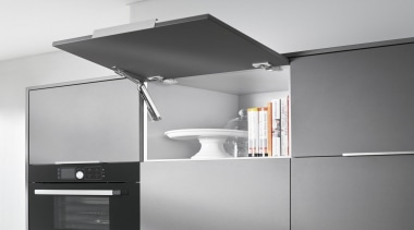 Lift System - AVENTOS HK XS - furniture furniture, home appliance, kitchen appliance, major appliance, product, gray, white