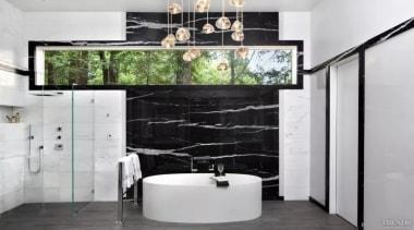 See the bathroom architecture, bathroom, floor, flooring, interior design, room, wall, gray