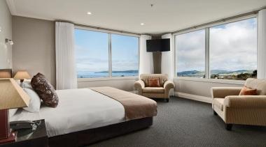 Exemplar - bedroom | hotel | interior design bedroom, hotel, interior design, penthouse apartment, property, real estate, room, suite, window, gray