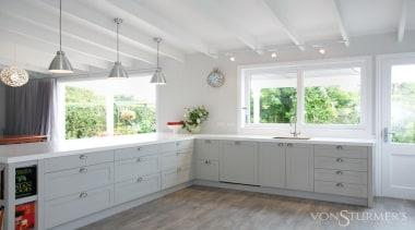 Devonport - cabinetry | ceiling | countertop | cabinetry, ceiling, countertop, cuisine classique, home, interior design, kitchen, real estate, room, window, gray, white
