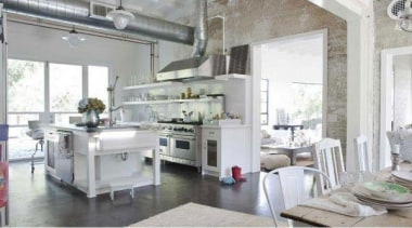 Lots of white, hit of steel and touch interior design, kitchen, white, gray