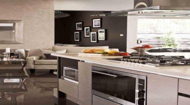 Baumatic 90cm built-in oven in Eden Brae Lifestyle countertop, cuisine classique, home appliance, interior design, kitchen, kitchen appliance, kitchen stove, gray, black