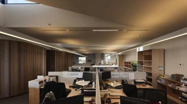 Architectural diversity and talent was celebrated at the ceiling, interior design, office, black, brown
