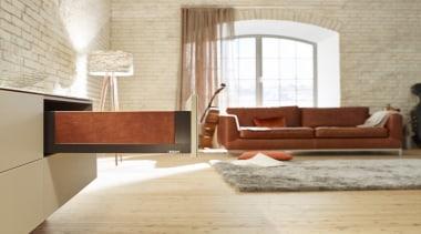 LEGRABOX free - Box System - architecture   architecture, chair, floor, flooring, furniture, hardwood, home, interior design, laminate flooring, living room, loft, room, table, wall, wood, wood flooring, gray