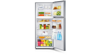 Refrigerator - Top Mount SR341MLSSamsung's new top mount home appliance, kitchen appliance, major appliance, product, refrigerator, shelf, white