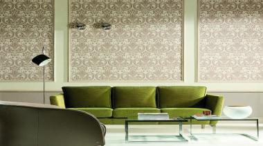 Akoya Range - Akoya Range - decor   decor, floor, furniture, green, interior design, living room, product design, table, wall, wallpaper, window covering, window treatment, brown, yellow