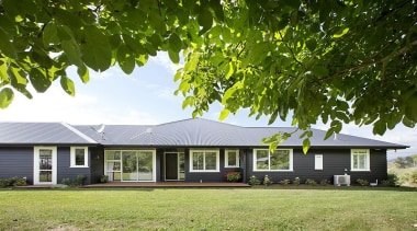 Fowler Homes Tauranga.Gold reserve winner and National finalist cottage, estate, facade, farmhouse, grass, home, house, landscape, lawn, plant, plantation, property, real estate, tree, brown