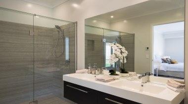 Landmark Homes Brookside Design Bathroom - Landmark Homes bathroom, floor, home, interior design, room, gray