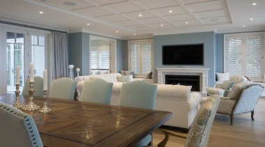 Living area - Living area - ceiling   ceiling, floor, flooring, home, interior design, living room, real estate, room, table, window, gray