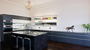 New Zealand Renovation Kitchen Designer of the Year countertop, interior design, kitchen, real estate, room, white, black