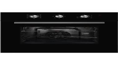 60cm 5 Function Wall OvenCavity : 65 L5 black and white, cooktop, home appliance, kitchen appliance, multimedia, oven, product, black, white