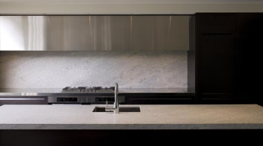 Splash Back - Kashmir White - Granite - countertop, floor, flooring, furniture, interior design, table, wall, wood, gray, black