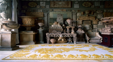 A special edition of the Military Brocade design.This flooring, furniture, home, interior design, living room, room, wall, black
