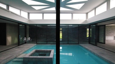 Christchurch House - Christchurch House - architecture | architecture, condominium, daylighting, glass, house, interior design, leisure centre, property, real estate, swimming pool, window, black