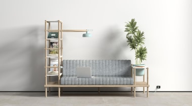 Versatility is the key to being at the bed, bed frame, furniture, product, product design, shelf, shelving, table, white