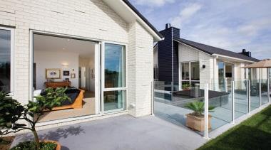 Vogue - Monier - Vogue - Monier - cottage, door, estate, facade, home, house, porch, property, real estate, residential area, siding, window, gray, white