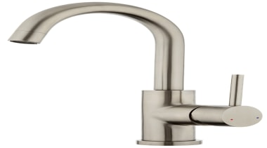 Purity Minimal Basin Mixer PUR021 - Purity Minimal hardware, metal, plumbing fixture, product, product design, tap, white