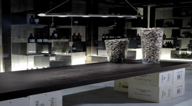 Adagio from Grok, Spain - Pendant Light - display window, furniture, glass, product design, table, tourist attraction, black