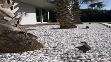Exterior and Outdoor Lights - Exterior and Outdoor flooring, pebble, walkway, gray, black