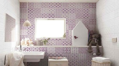 Artistic Tiles - Bon Ton - Artistic Tiles bathroom, ceiling, floor, flooring, home, interior design, pink, product, purple, room, tile, wall, wallpaper, window, white, gray