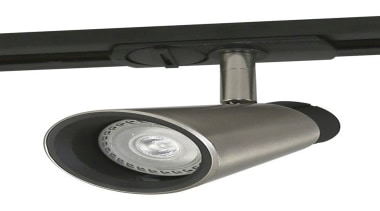 FeaturesThe Zoom track spotlight is an innovative minimalist hardware, lighting, product design, white, black