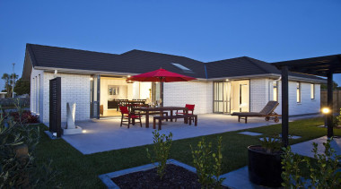 For more information, please visit www.gjgardner.co.nz architecture, backyard, cottage, elevation, estate, facade, home, house, property, real estate, residential area, roof, villa, blue, black