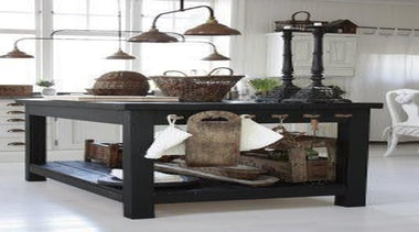 Kitchen Island Love - When Country met Industrial coffee table, end table, furniture, table, gray, white, black